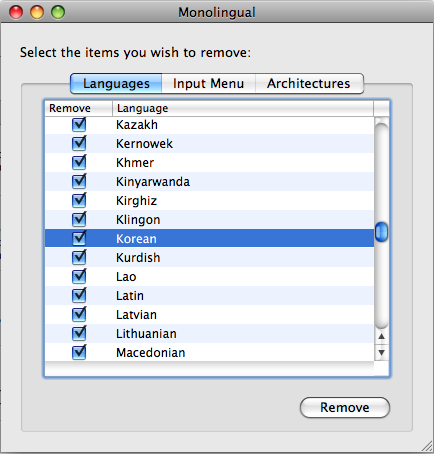 Monolingual screenshot