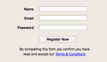 Form Fail - Sans Tick Box